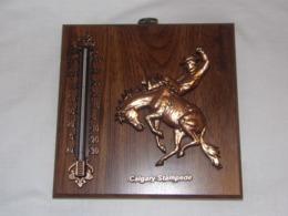 Souvenirs. Canada. Thermomètre De Galgary Stampede (cow-boy, Rodéo, Cheval, Pur-sang) - Obj. 'Remember Of'