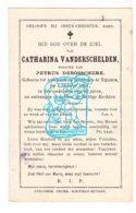 DP Catharina VanderSchelden ° Anzegem 1805 † Tiegem 1891 X Petrus DeBosschere - Devotion Images