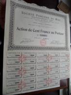 Soc. Foncière Du Midi / Action De Cent Francs Au Porteur 1924 - N° 2193 ( Zie/Voir Foto ) ! - S - V