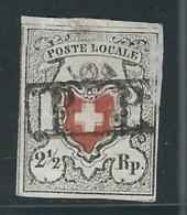 SUISSE N° 16 Obl. Bel Aspect Mais  Petite Réparation Dans La Marge Du Haut - 1843-1852 Timbres Cantonaux Et  Fédéraux