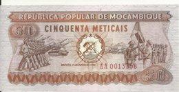 MOZAMBIQUE 50 METICAIS 1980 UNC P 125 - Mozambique