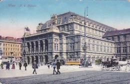 AK Wien - K.k. Hofoper - Tram Strassenbahn - 1915 (44824) - Ringstrasse