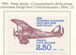 PIA - FRAN - 1980 :50° Anniversario Della Prima Traversata Atlantica Parigi-New York, Senza Scalo    - (Yv P.A. 53) - Aerei