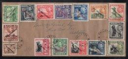 """MALTE - MALTA - VALLETTA / 1949 SERIE COMPLETE """"SELF GOVERNMENT"""" SUR LETTRE (ref 7072) - Malta"""