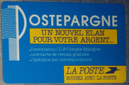 Petit Calendrier De Poche 1989 Bougez Avec La Poste  Postépargne - Formatcarte Bleue - Calendriers