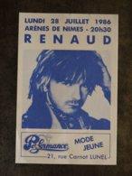 RENAUD GOLDMAN ARENES DE NIMES 1986  PUBLICITE PERFORMANCE PLACE BELLECROIX NIMES - Publicités