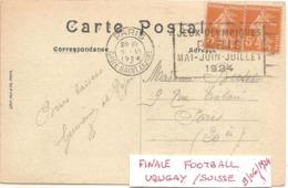 1924 Jeux Olympiques De Paris :FINALE Du Tournoi Olympique De FOOTBALL,le 9 Juin - Ete 1924: Paris