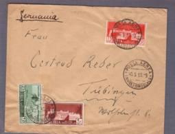 Lettre Obl. Posta Aerea Tripoli 10.05.1939 -> Tübingen - Libia