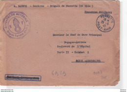 Ferrette Haut Rhin 1945 Gendarmerie - Marcophilie (Lettres)