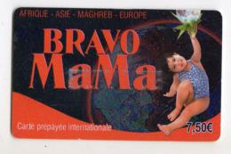 FRANCE CARTE Prépayée BRAVO MAMA Année 2008 - Andere Voorafbetaalde Kaarten