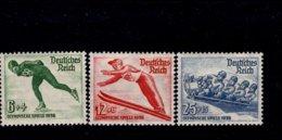 Deutsches Reich 600 - 602 Olympische Winterspiele MNH Postfrisch ** Neuf - Deutschland