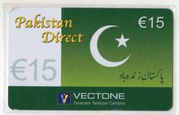 FRANCE CARTE Prépayée 15€ VECTONE PAKISTAN DIRECT DRAPEAU Année 2004 - Andere Voorafbetaalde Kaarten