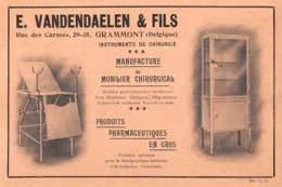 GRAMMONT - Rue Des Carmes - E. VANDENDAELEN & Fils - Dim. +/- 1/2 A4 - Publicités