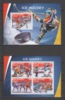 ML040 2016 MALDIVES SPORTS ICE HOCKEY 1KB+1BL MNH - Hockey (Ice)