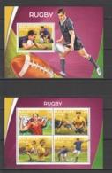 ML043 2016 MALDIVES SPORTS RUGBY 1KB+1BL MNH - Rugby
