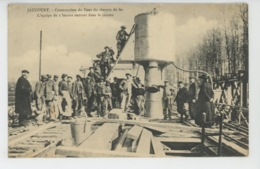 JAUCOURT - Construction Du Chemin De Fer - L'équipe De 2 Heures Entrant Dans Le Caisson - France
