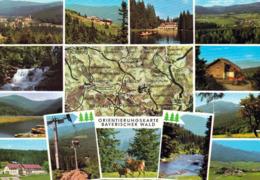 1 Map Of Germany * 1 Ansichtskarte Mit Der Landkarte - Bayerischer Wald - Orientierungskarte * - Landkarten