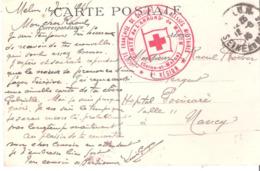 Seine Et Marne :- MELUN CROIX ROUGE COMITE DE L'ARRONDISSEMENT DE MELUN - Marcofilia (sobres)