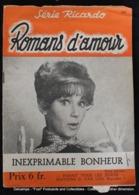 Série Ricardo Romans D'amour Pour Adultes Collection Coeur ( Lot De 3 Revues ) Pub Caméra KODAK - Non Classés
