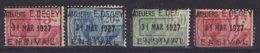 België - Fiscale Taxen - Ateliers E. Degey - Ensival - 4 Waarden - Revenue Stamps