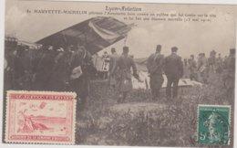 69 Lyon Aviation  Accident Hauvette Michelin  Le 13 Mai 1910   Cachet Poste 1910 - Lyon