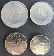Kuba Cuba 4 Münzen Karibik 5-25 Centavos 1988-1994  - Münzen