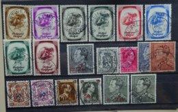 BELGIE  1938-41    Nr. 478 / 479-80 / 488-95 / 527-31 En 568-72    Gestempeld   CW 26,00 - Belgique