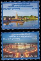 Myanmar Birmanie Burma 326/27 Fête De L'indépendance - Myanmar (Birmanie 1948-...)
