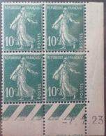 R1189/253 - 1923 - TYPE SEMEUSE - BLOC - N°159 (III) TIMBRES NEUFS** CdF Daté - ....-1929
