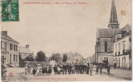CPAF38 - PARENNES RUE ET PLACE DE L'EGLISE - France
