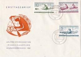 DDR - FDC 6-7-1961 - Wereldkampioenschappen Kanoslalom En Wildwatervaren - Rote Weiβeritz - Dresden - M 838-840 - Kanu