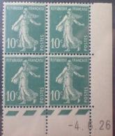 R1189/255 - 1926 - TYPE SEMEUSE - BLOC - N°159 (III) TIMBRES NEUFS** CdF Daté - ....-1929