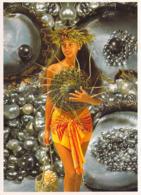Polynésie Française- La Femme Et La Perle Noire (A)(perles Coquillage Shell )(Photo Teva Sylvain 968 Tahiti @PRIX  FIXE - Polynésie Française
