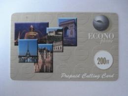 """Carte Téléphonique Prépayée """" Econo Phone """"  (utilisée). RARE - France"""