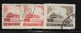 Chine 1956 Yvert 1076/77 Et 1079 Oblitérés (AA110) - Used Stamps