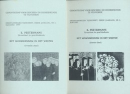 Het Monnikendom In Het Westen - - 2 Delen – E. Peetermans - History