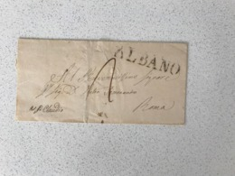 Cover / Front Piece  ALBANO -> Roma 1854 - Italie