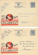 Publibel 1026 Et 1027 – Chocolat Callebaut – Wieze – Lace – Kant In Hoofddeksel - Entiers Postaux