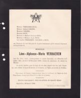 TREMBLEMENT De TERRE MESSINE 28 Décembre 1908 Léon VERHAEREN Saint-Gilles 1851 - Détroit De Messine 28 Décembre 1908 - Overlijden