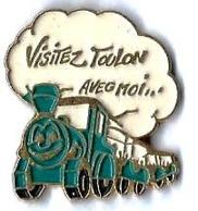 P'TITS TRAINS - P245 - VISITEZ TOULON AVEC MOI - Verso : SAP47 - TGV
