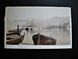 Photo Carte De Visite CDV  - NICE  - Cote D'Azur - Le Port Avant 1900 - Photos