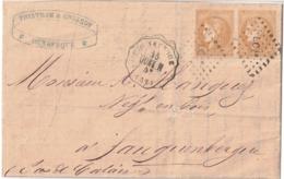 ** AMB 197 LC1°/43g*2cs  DUNK H 206 DUNKERQUE 57  30/05/71 Lac Arr TTB Ind 19 - 1870 Ausgabe Bordeaux