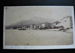 Photo Carte De Visite CDV  - MENTON  - Cote D'Azur - Le Port Avant 1900 - Anciennes (Av. 1900)