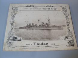 Album Photos Croiseur Cuirassé Victor Hugo Toulon 1912 Navire Militaire - Libros, Revistas & Catálogos