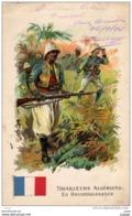 TIRAILLEURS ALGERIENS En Reconnaissance  Carte écrite En 1916  2 Scans - Regiments