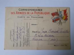 Correspondance Des Armées De La République 19-10-1914 - Poststempel (Briefe)