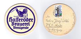 Sous-bock Bière Unique Hasseröder Bierbrauerei, Timbre 1980 Beer Mat Bierdeckel Coaster - Sous-bocks