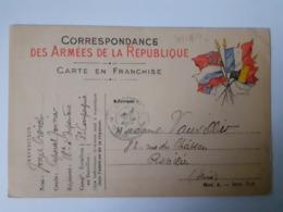 Correspondance Des Armées De La République 31-10-1914 - Marcofilia (sobres)
