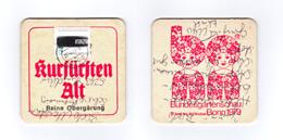 Sous-bock Bière Unique Brauerei Kurfursten, Timbre 19?? Beer Mat Bierdeckel Coaster - Sous-bocks