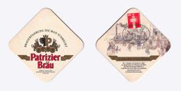 Sous-bock Bière Unique Brauerei Patrizier  Brau, Timbre 1989 Beer Mat Bierdeckel Coaster - Sotto-boccale